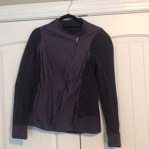 Lululemon Purple diagonal zip coat